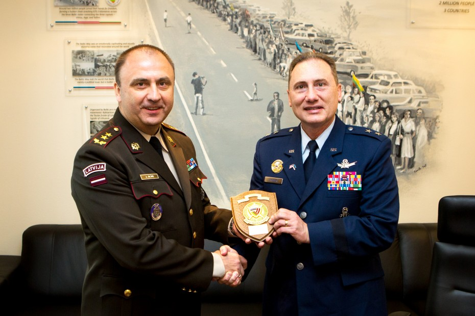 Baltic Defence College - Visit by MG Clinton E  Crosier, J5 Director
