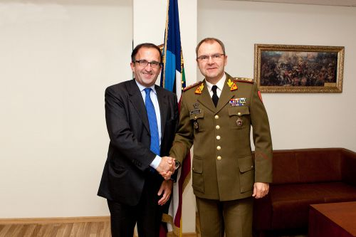 Baltic Defence College Visit By Italian Ambassador To